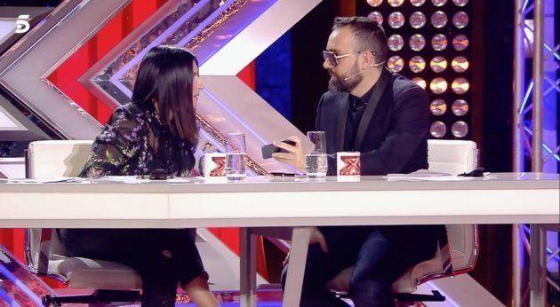 Risto Mejide confiesa en 'Factor X' cómo llama a Laura Escanes en la