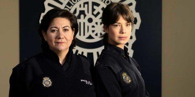 Las protagonistas de la serie Servir y Proteger, Luisa Martín y Andrea del