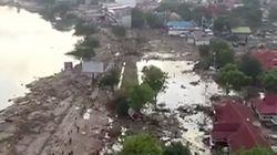 Un dron capta la destrucción del tsunami que ha dejado más de 800 muertos en