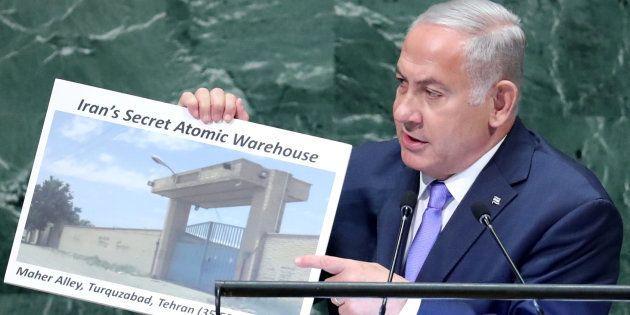 Benjamin Netanyahu durante su discurso en la