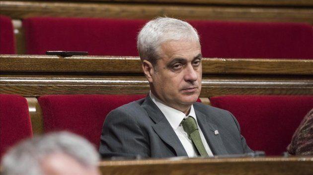 Germà Gordó, sentado en su escaño, en una imagen de