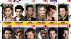 Estos serían los actores de 'Los Vengadores' si se hubiese rodado en los