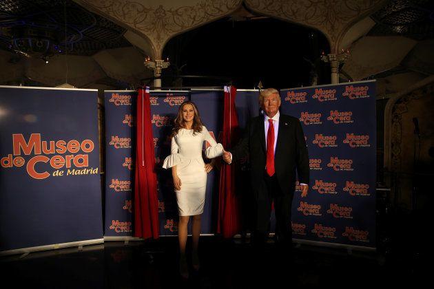 Las figuras de Melania y Donald Trump en el Museo de Cera de