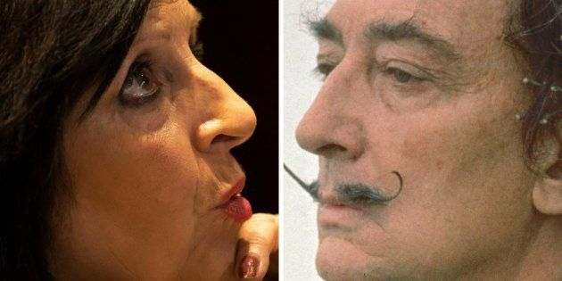 Pilar Abel, fotografiada el 13 de julio en Madrid y Salvador Dalí, en un retrato a principios de los...