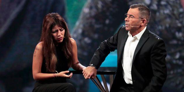 El presentador Jorge Javier Vázquez e Isabel 'Chabelita' Pantoja durante una gala del programa 'Gran...