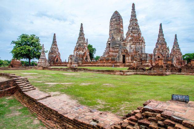 El templo budista de Wat Chaiwatthanaram en la antigua ciudad de