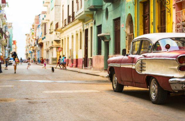 Las calles del centro de La Habana,