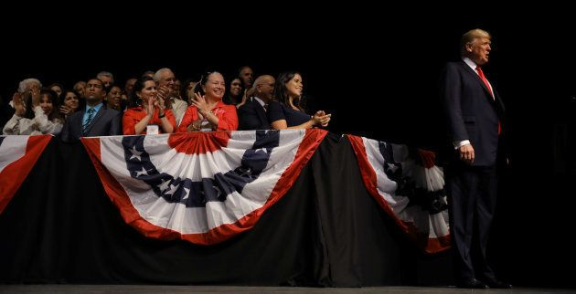 Donald Trump da un discurso sobre las relaciones EEUU-Cuba en Miami, en junio del pasado