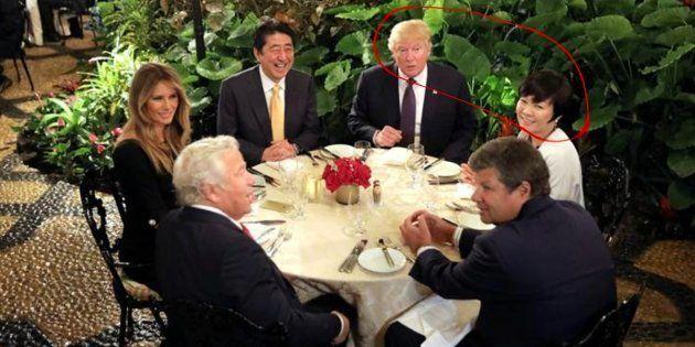 Imagen de archivo de la cena que mantuvo el matrimonio Trump con los