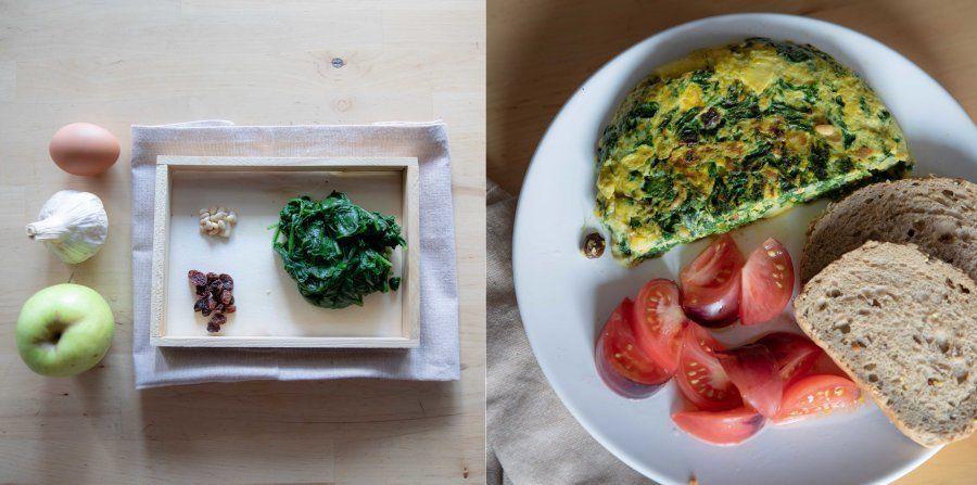 Recetas fáciles: tortilla de espinacas y