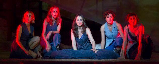 Escena de Las Troyanas - Festival Internacional de Teatro Clásico de