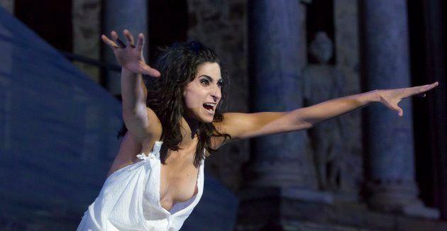 Alba Flores en Las Troyanas - Festival Internacional de Teatro Clásico de