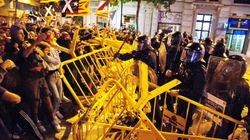 El aniversario del 1 de octubre finaliza con fuertes disturbios ante el