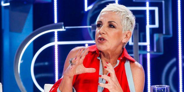 La cantante Ana Torroja, durante el programa 'Operación Triunfo 2018' en Barcelona el 26 de septiembre...