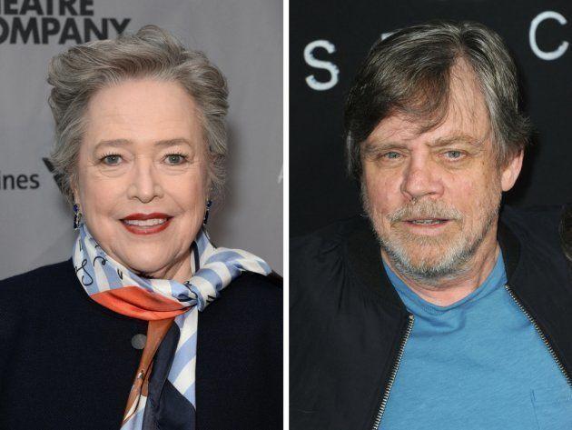 A la izquierda, Kathy Bates. A la derecha, Mark