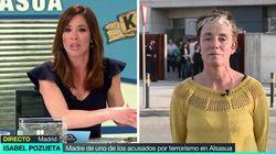 El momento más tenso de la entrevista de Mamen Mendizábal a la madre de uno de los acusados de