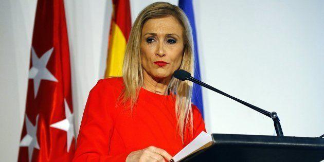 La presidenta de la Comunidad de Madrid, Cristina Cifuentes, en el Colegio Oficial de Arquitectos de