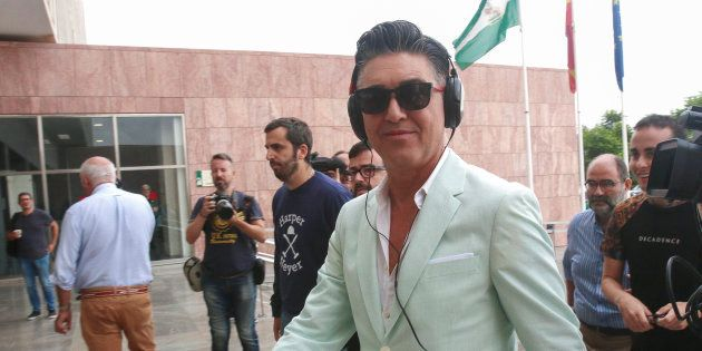 El humorista Ángel Garó en su llegada a los juzgados para declarar el 26 de septiembre de