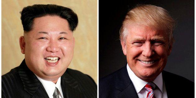 Imágenes de archivo de Kim Jong Un y Donald