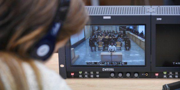 Imagen del primer día del juicio por la agresión de