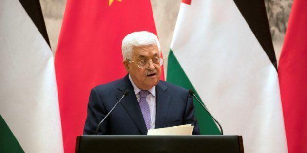 El presidente palestino Mahmud Abbas, el pasado martes en Pekín