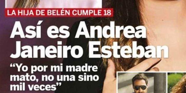 La Policía está localizando a los que insultaron a Andrea Janeiro en