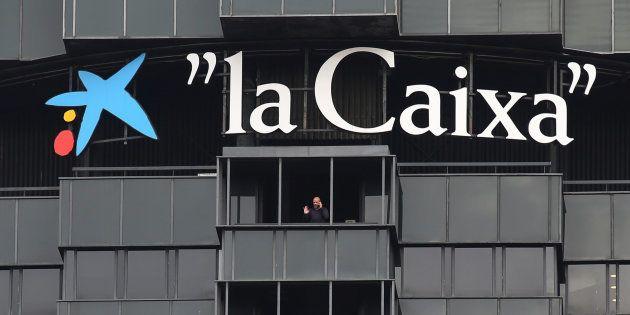 Oficinas centrales de Caixabank en la avenida Diagonal de