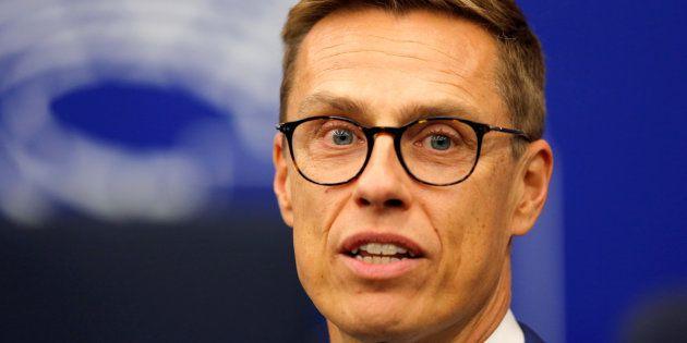 El exprimer ministro de Finlandia Alexander Stubb en el Parlamento Europeo de Estrasburgo