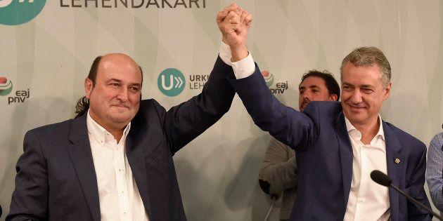 El lehendakari vasco Íñigo Urkullu y el presidente del EBB del PNV Andoni