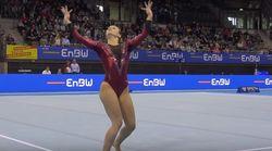 Una gimnasta arrasa con un ejercicio 'Harry