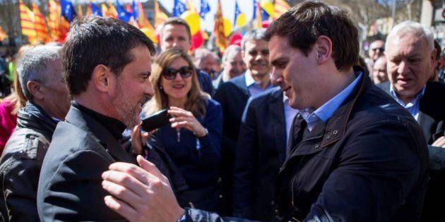 Valls y Rivera en una imagen de