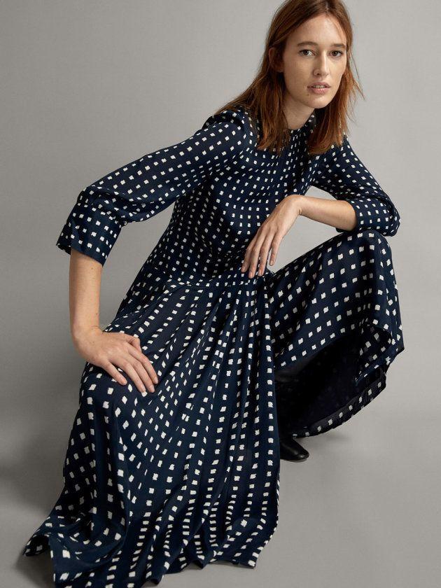 Massimo Dutti lanza la versión otoñal del vestido más alabado de la reina