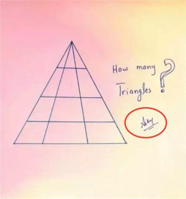 ¿Cuántos triángulos ves aquí? El acertijo que casi nadie
