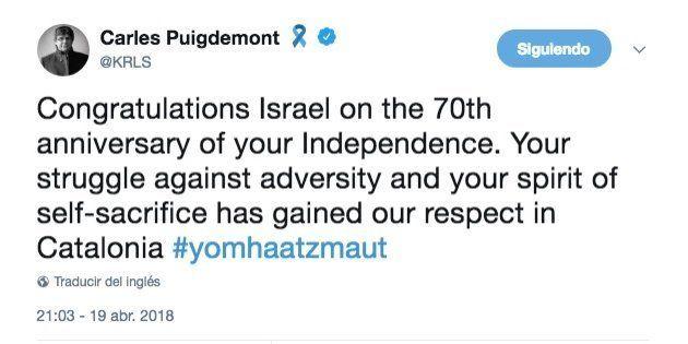Puigdemont y la CUP se enfrentan en Twitter por el aniversario de