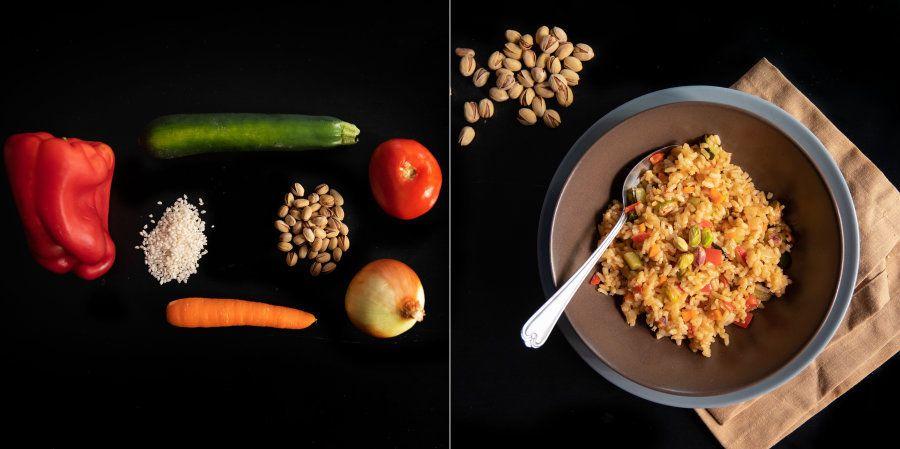 Recetas fáciles: arroz con verduras y frutos