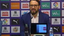 El enfado de Bordalás, entrenador del Getafe, con un periodista: