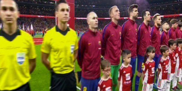 Así ha sido la pitada al himno de España durante la final de la Copa del