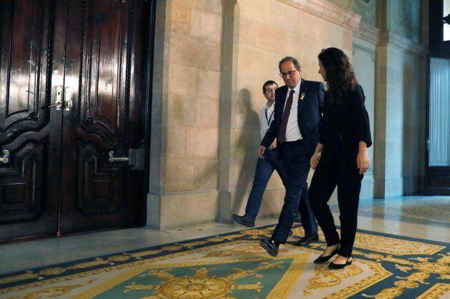 El president de la Generalitat Quim Torra este
