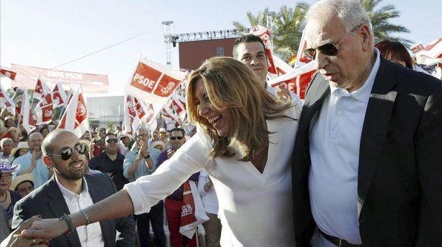 GRA411 SEVILLA 19 05 2017 - La presidenta andaluza y candidata a las primarias socialistas Susana Diaz...