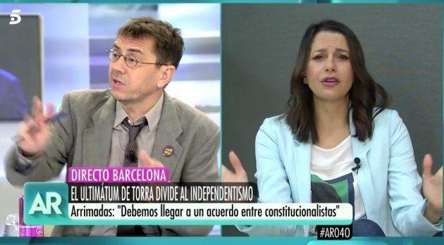El comentario de Ana Rosa Quintana en pleno directo que dejó con esta cara a Juan Carlos Monedero en...