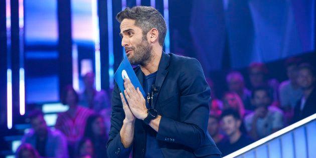 El presentador Roberto Leal, durante la segunda gala de 'Operación Triunfo' el 3 de octubre de 2018 en