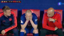 Las lágrimas de Iniesta tras la final de la Copa del