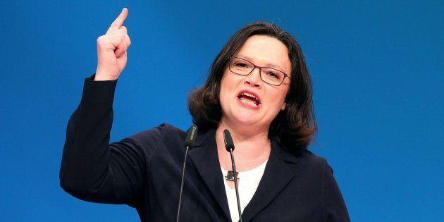 Andrea Nahles, primera presidenta de la historia del Partido Socialdemócrata