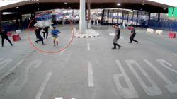 Detenido un hombre que hirió con un cuchillo a un policía en la frontera de Melilla al grito de