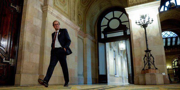 El president de la Generalitat, Quim Torra, en el