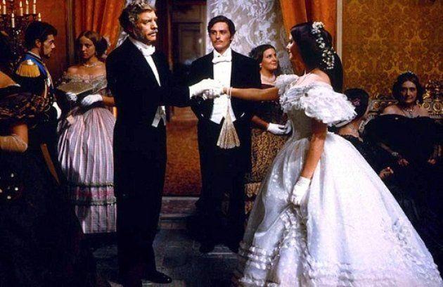 Fotograma de 'El Gatopardo', de Visconti. De izquierda a derecha: Lancaster, Delon y