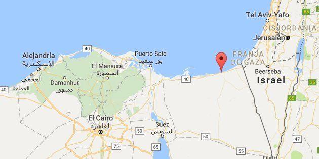 Mapa de situación de Al Arish, la ciudad costera del Sinaí donde ha tenido lugar el