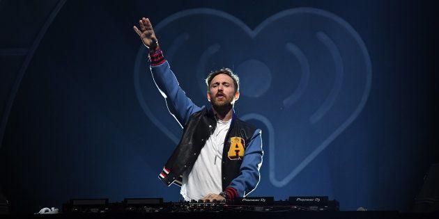 David Guetta, durante una actuación en el iHeartRadio Music Festival el 22 de septiembre de 2017 en Las