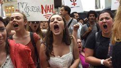 Miles de mujeres marchan contra Kavanaugh, el nominado al Supremo de Trump acusado de abusos