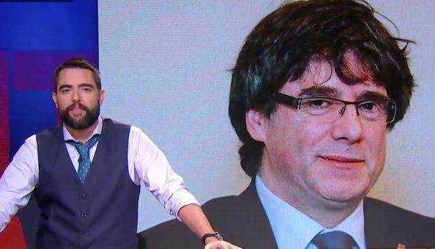 El irónico 'hachazo' de Dani Mateo a Puigdemont tras incluirle 'Time' entre los favoritos al Nobel de...